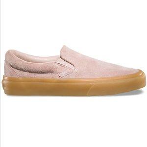 ed24cbf489ca01 Vans Classic Slip On Fuzzy Suede Sepia Rose Gum